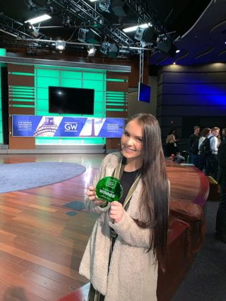 Christina Trexler receiving award