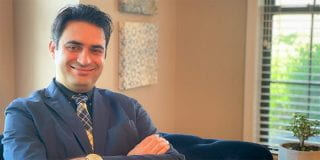 Assistant chemistry professor Mahmoud Moradi.