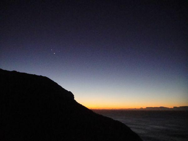 A lovely summer sunrise over the Australian Desert. Venus, Mars, and Jupiter are visible.