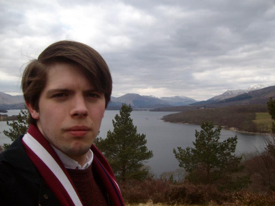 Josh Windsor, fresh from his hike on West Highland Way