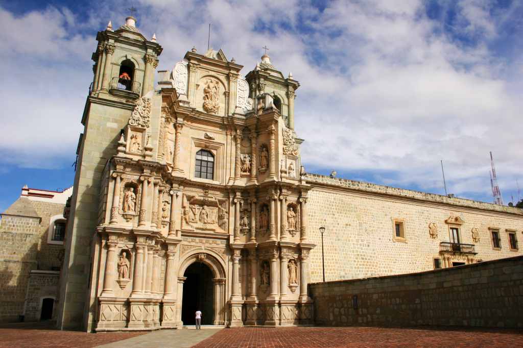 This cathedral in Oaxaca is a reflection of a typical colonial-era Mexican church.