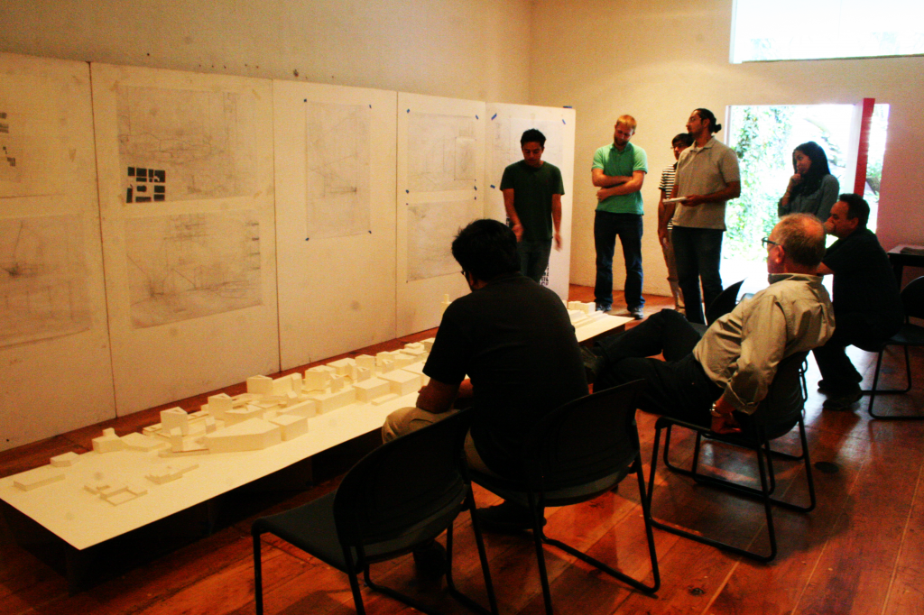 Back in Mexico City, the design reviews begin with new drawings and models each week accompanied by a presentation to a panel of insightful but intimidating local architects.