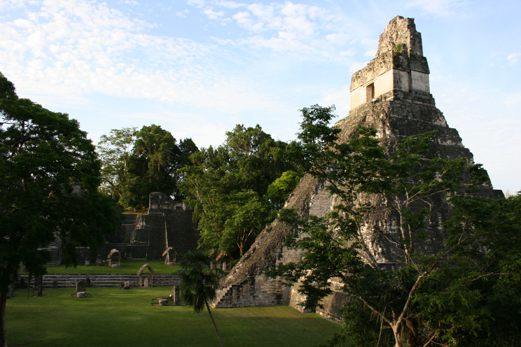 .  The Temple of the Great Jaguar in Tikal basks in the setting sun as if it has been sitting there for 1,300 years.
