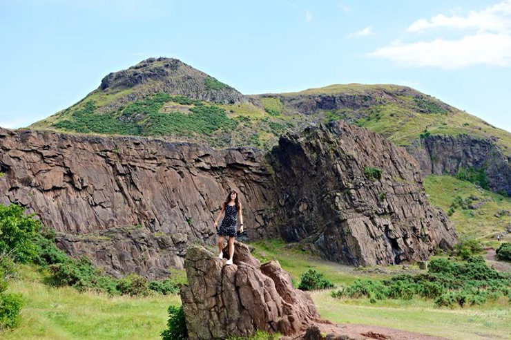 Climbing Arthur's Seat in Edinburgh, Scotland - web
