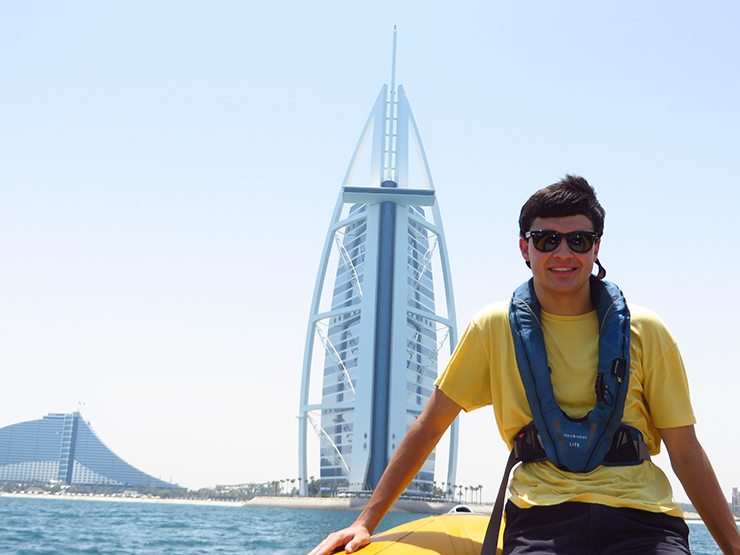 In front of the world's most expensive hotel, the Burj Al Arab-web
