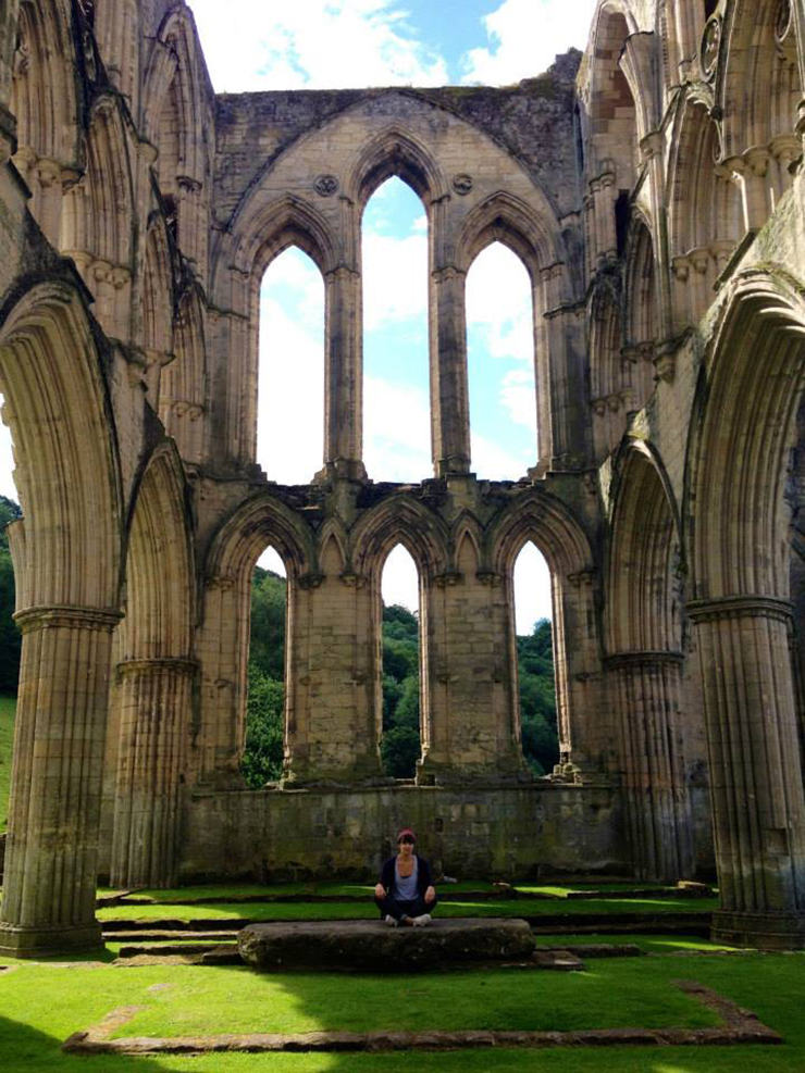 At Rievaulx Abbey, Yorkshire - web