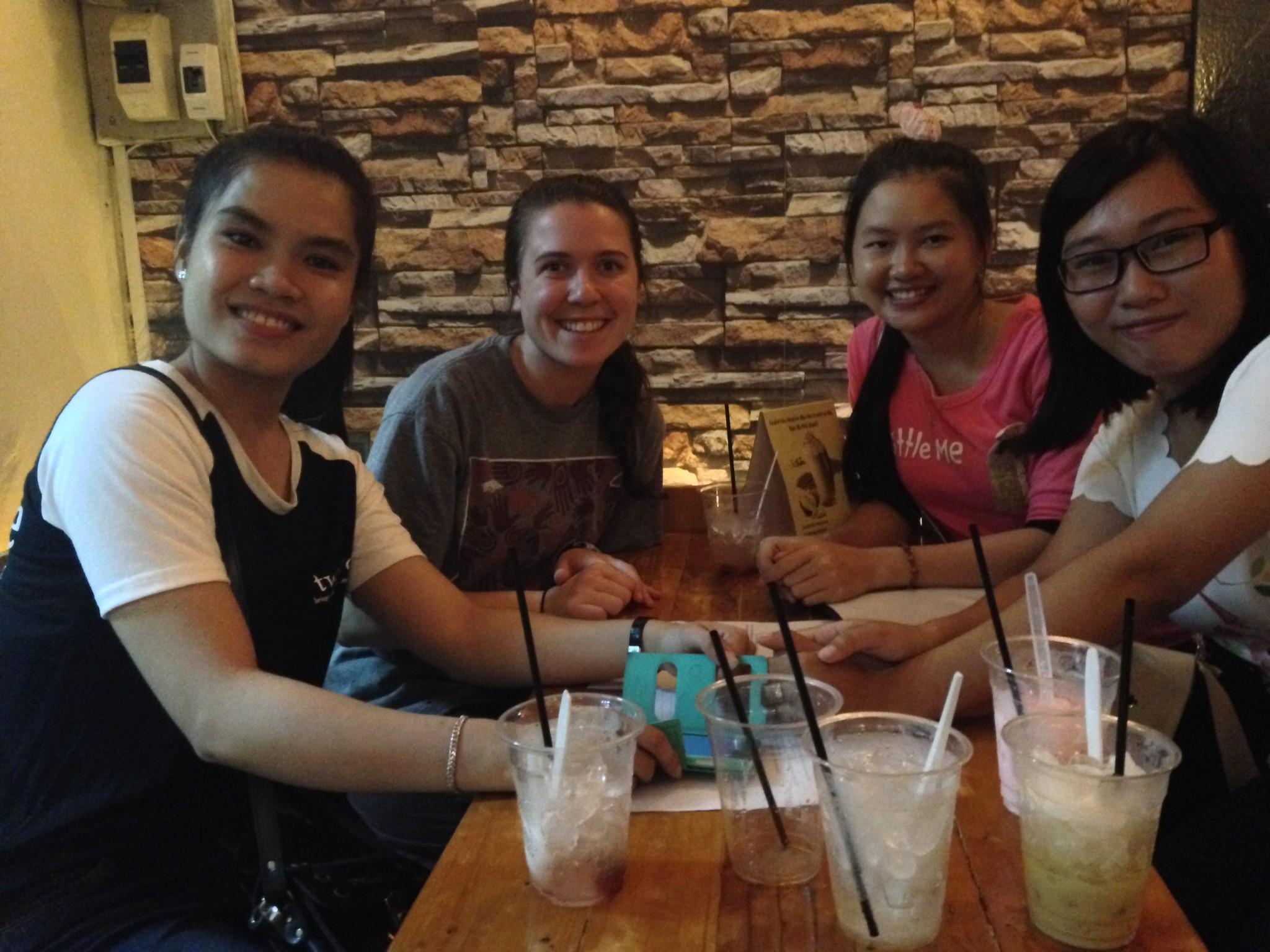 Vietnamese friends at the English Conversation Club