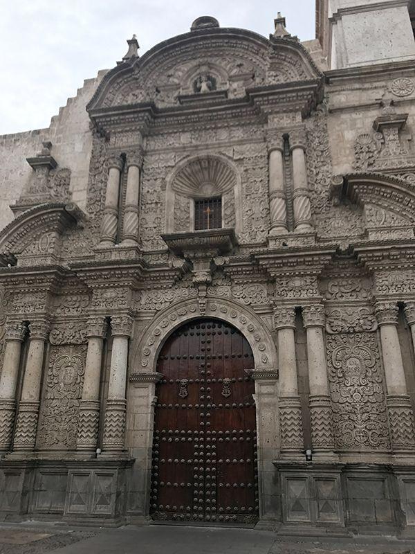 Baroque church facade