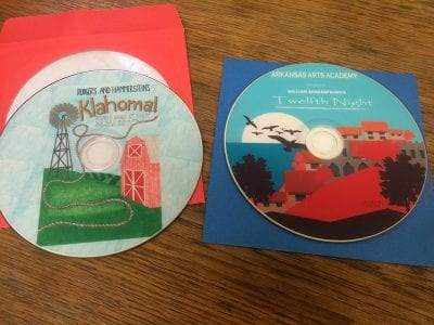 Two CDs created on the new equipment