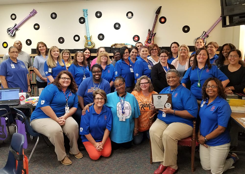 Howard Elementary receives their Year 3 Plaque