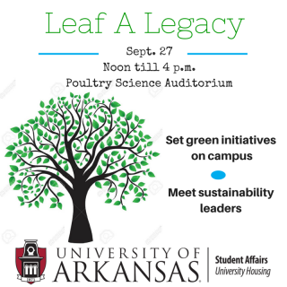 Help make University Housing as green as possible. Attend the Leaf a Legacy workshop Sunday.