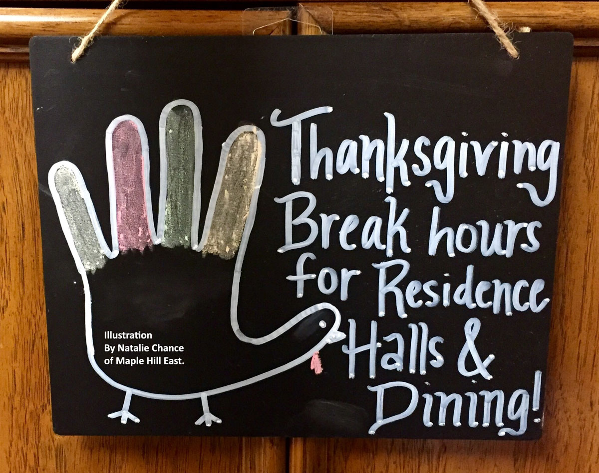Thanksgiving Break Hours for Housing and Dining
