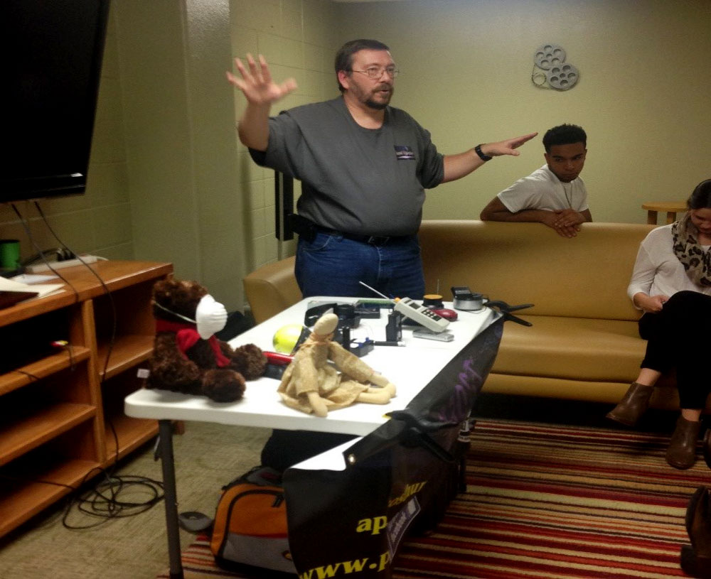 Local Ghost Hunters Discuss Paranormal Investigations to Pomfret Hall Residents