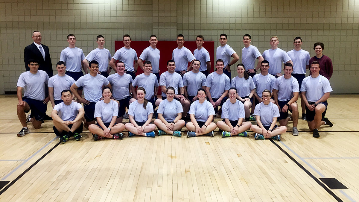 Air Force ROTC Wins Dodgeball Tournament Friday
