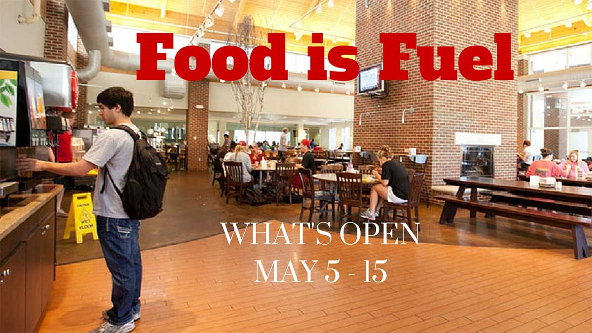 Last Week of Classes and Finals Dining Schedule