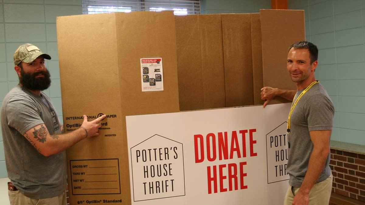 Leave Green: Please Donate to Potter's House