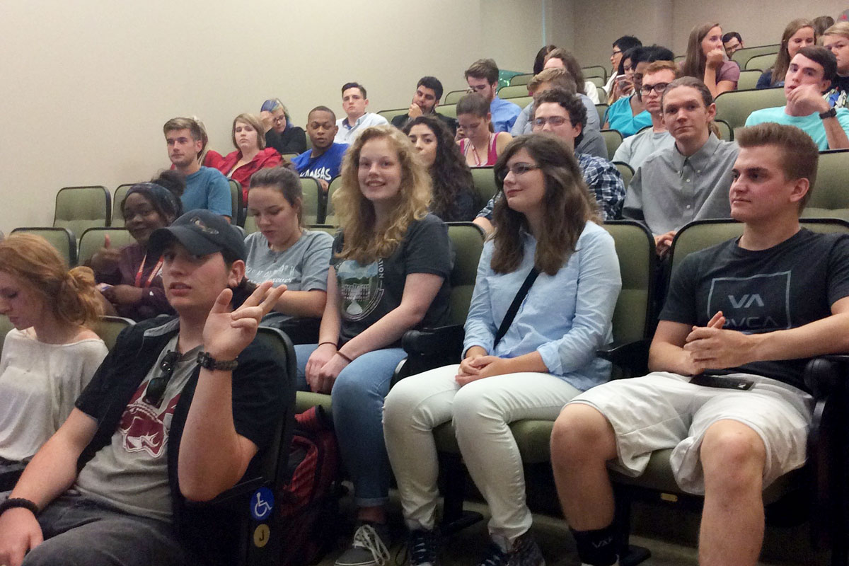 Students sampled the political process Monday at the first RIC meeting of the school year. | Photo by Jessi Balagatas