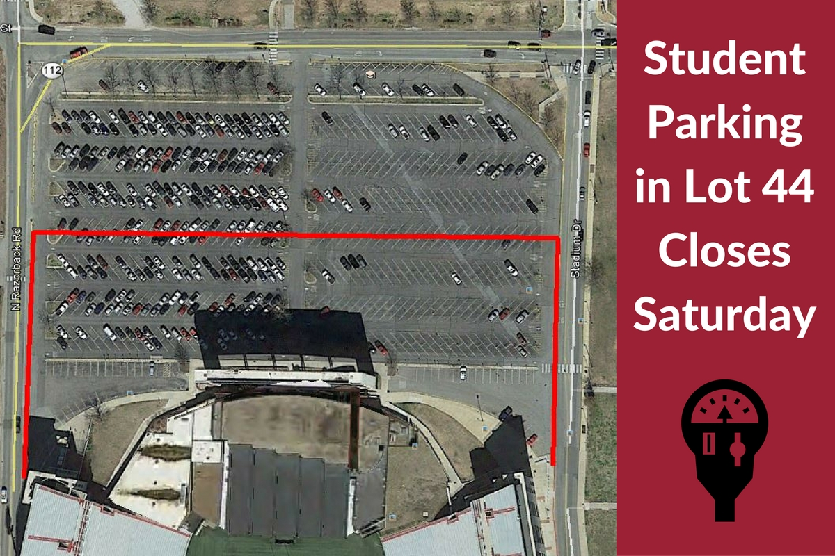 Student Parking Near Stadium Closes Saturday for Expansion