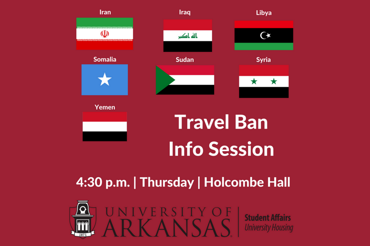Discuss the President's Travel Restrictions Thursday
