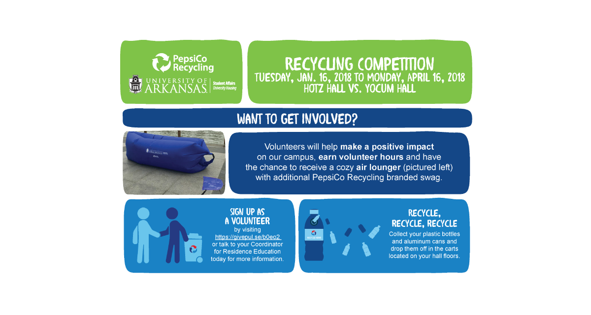 Recycling Competition Begins Between Hotz and Yocum Halls