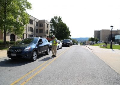 Move-in routes leading to central and south campus.