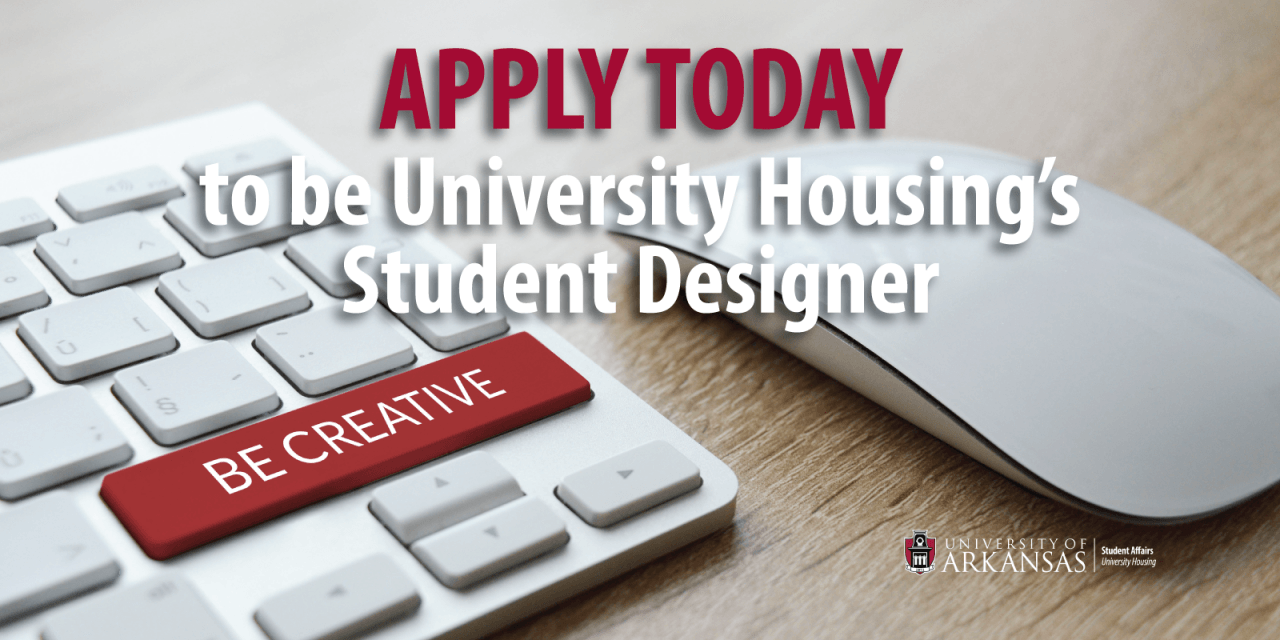 University Housing Offers Pay and Flexible Hours to a Creative Student Designer