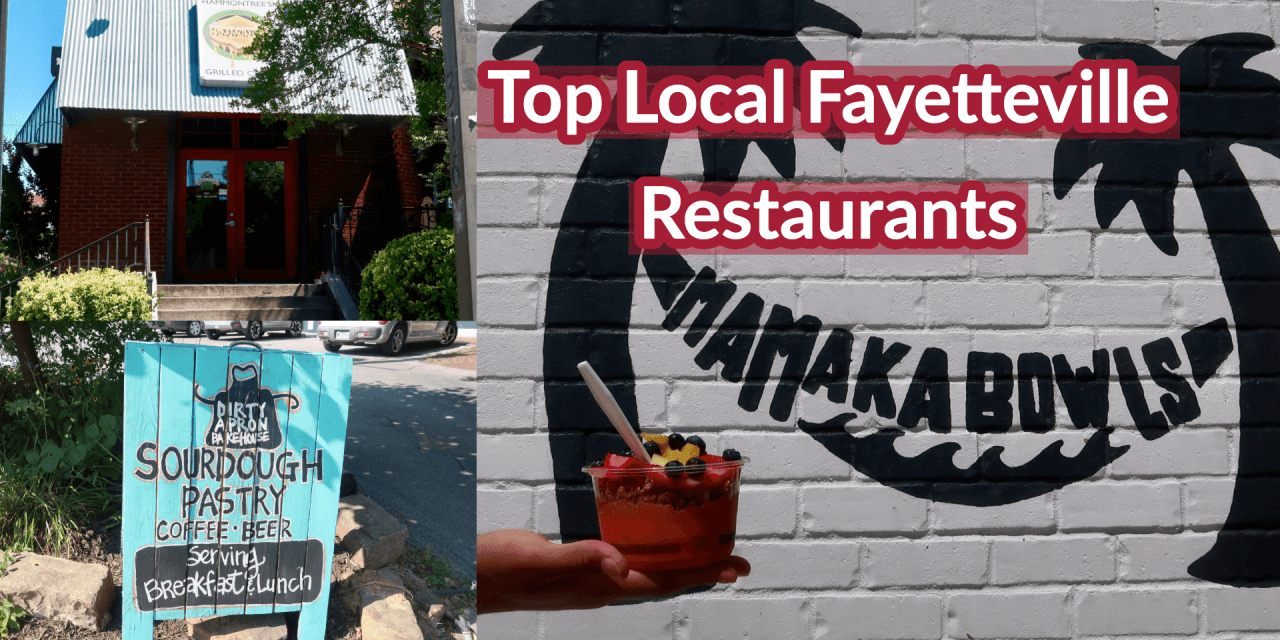 One Student's Top Local Fayetteville Restaurants