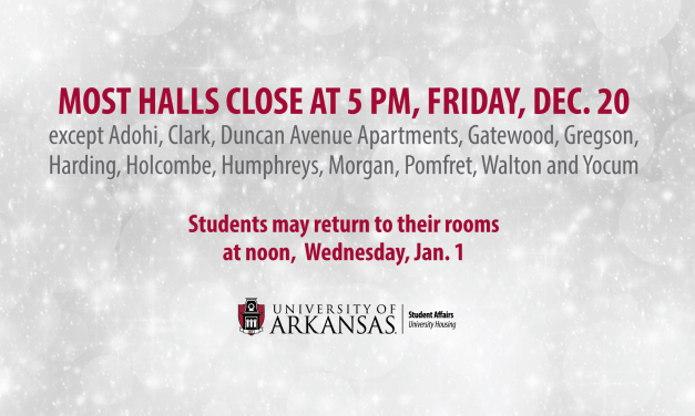 Most Halls Close Friday for Winter Break