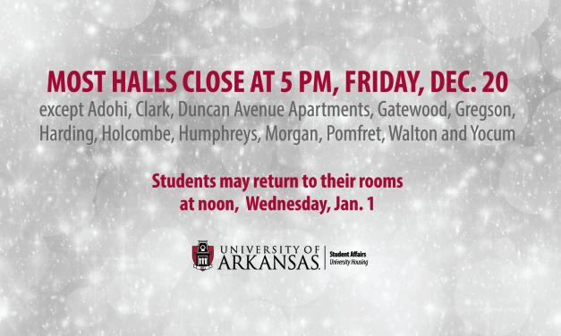 Most Halls Close Friday for Winter Break