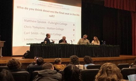 Faculty Members Compete at Annual Life Raft Debate