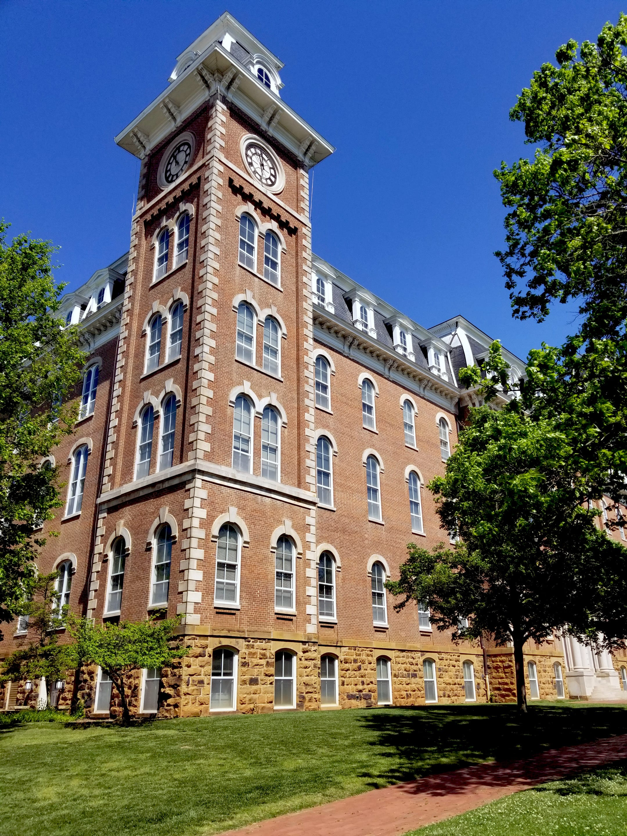 The South tower of Old Main