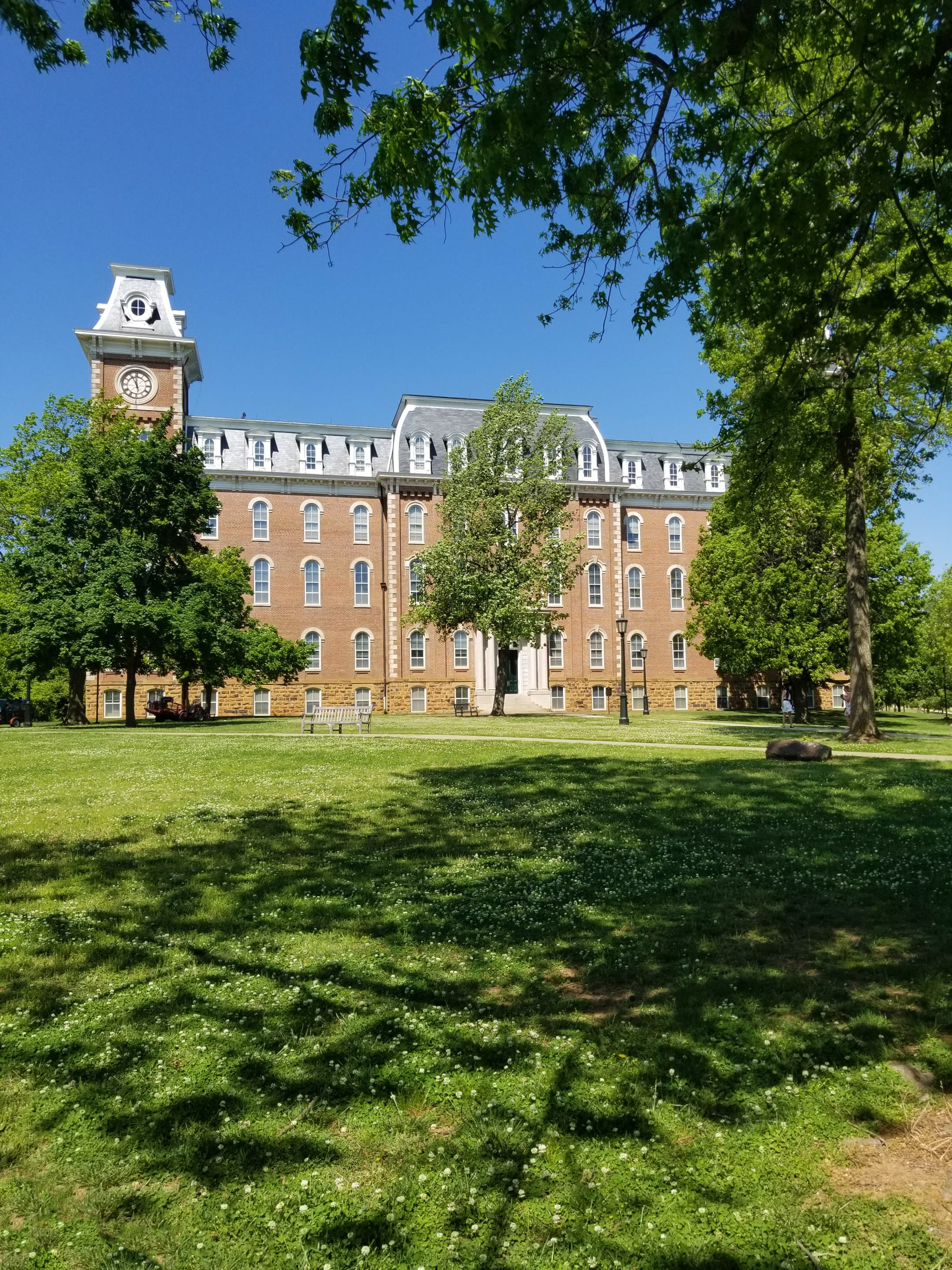 A view of Old Main from the East lawn
