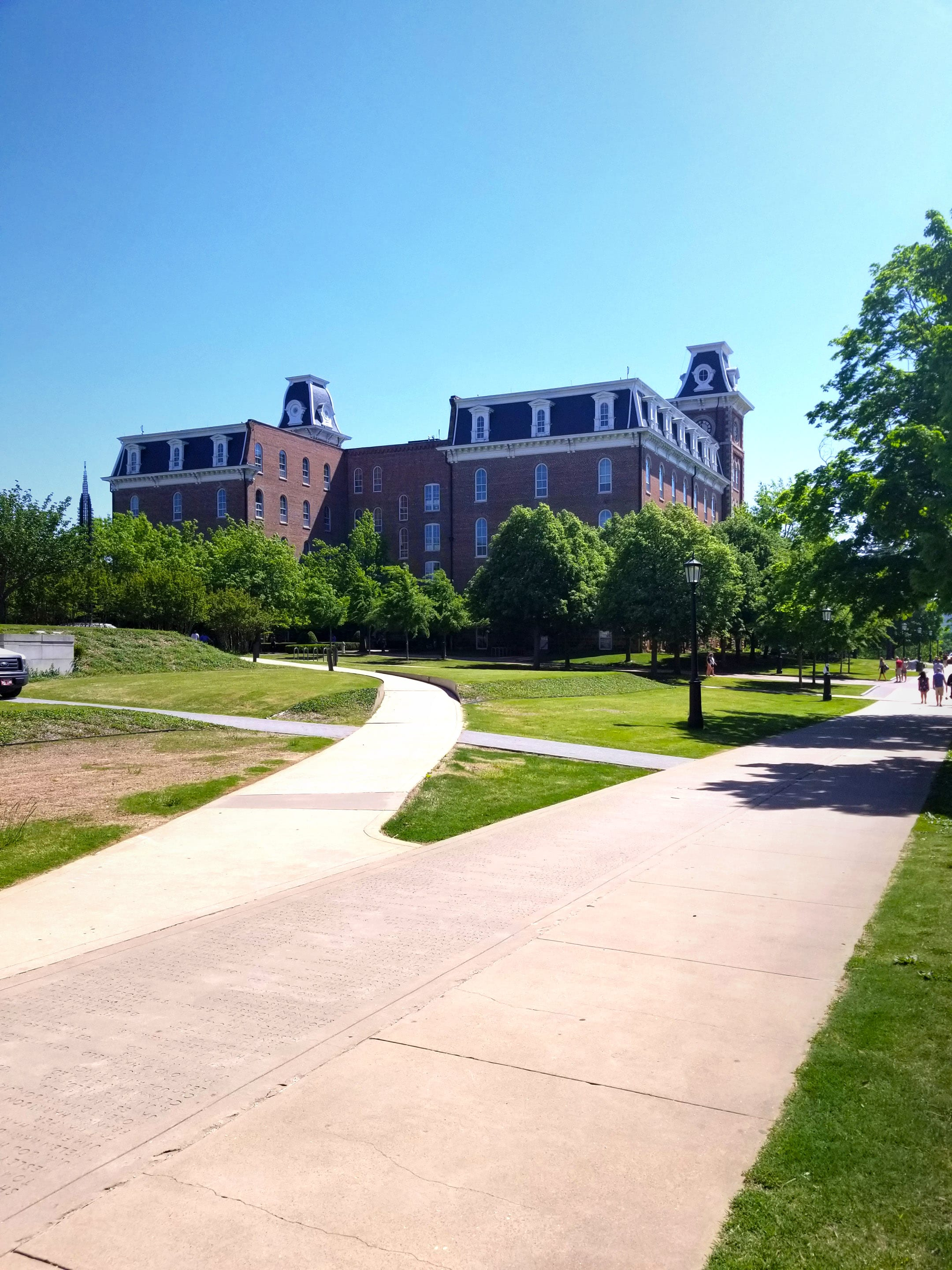 A view of Old Main from the West lawn