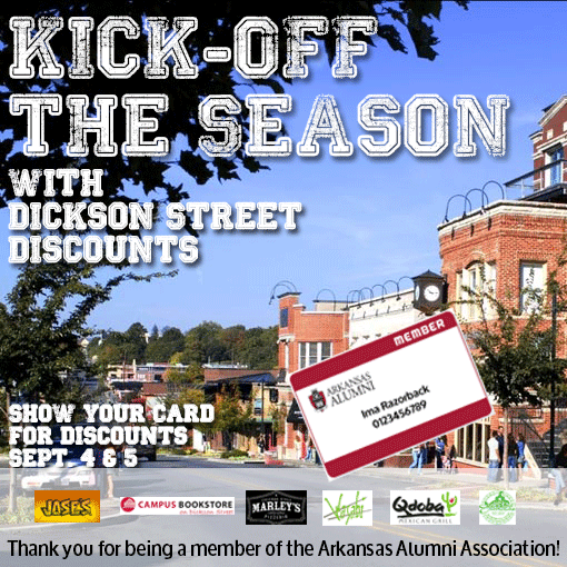 Kick-Off The Season with Dickson Street Discounts