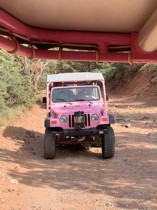 Travelers enjoying the Pink Jeep excursion in Sedona, Arizona.