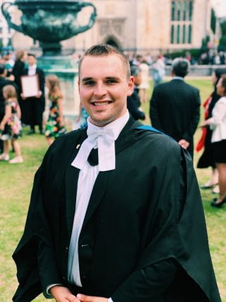 Sam Harris in his University of Cambridge robes.