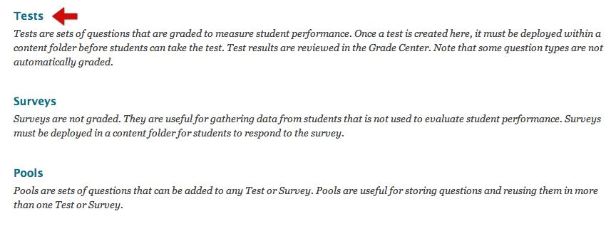 select tests