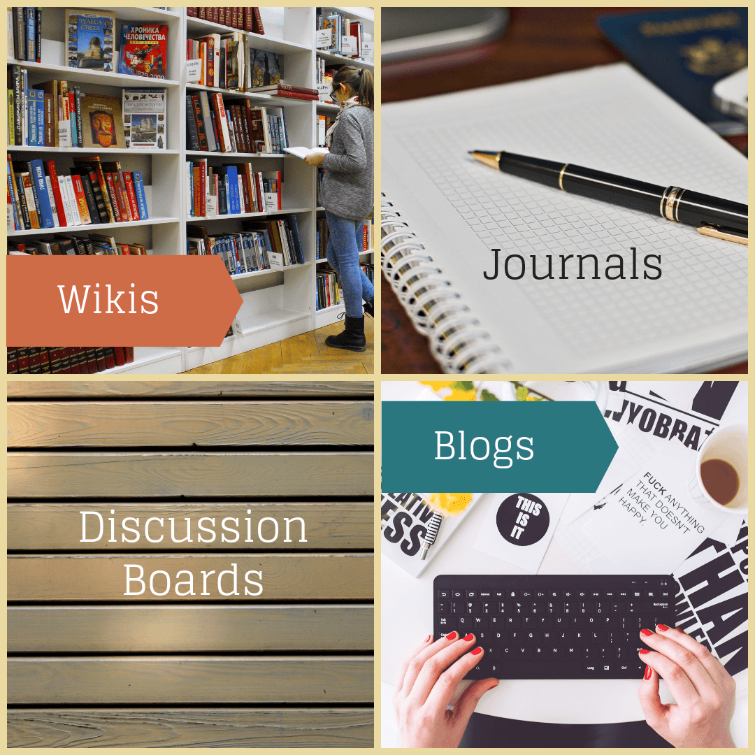 Blackboard: Journals, Blogs, Wikis & Discussion Forums