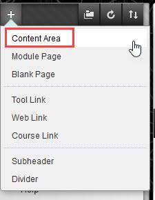 click content area