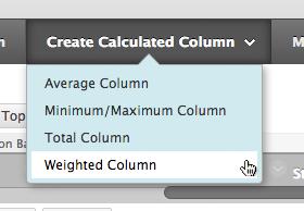 weighted column
