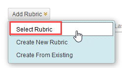 click select rubric