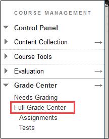 click full grade center