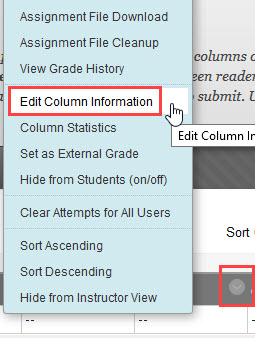 click the edit button and select edit column information