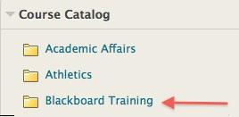 Click on Blackboard Training