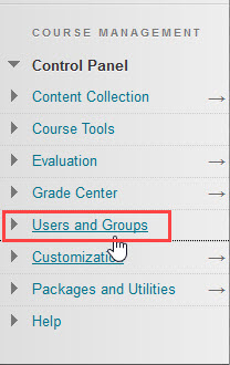 click users and groups