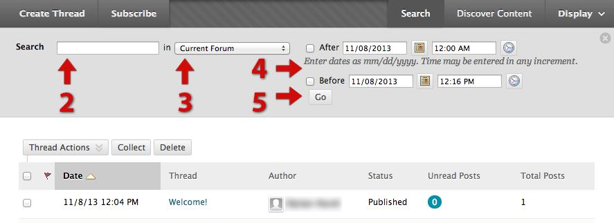 specify search criteria