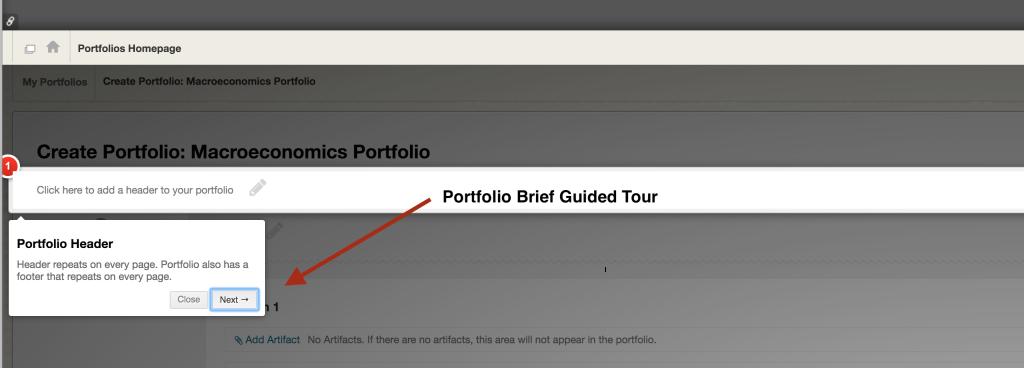 Brief guided tour of portfolio tool