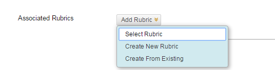 Click Add Rubric and select from choices
