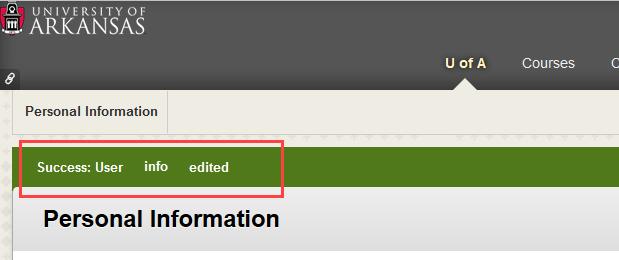 alert user info edited