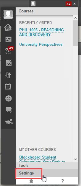 alerts click settings